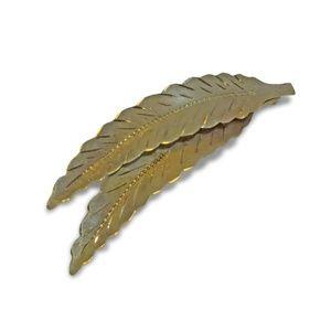 Jewelry - 14 Karat Vintage Double Leaves Brooch